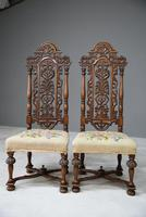 Pair William & Mary Style Chairs (5 of 12)