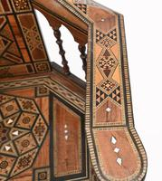 Pair of Damascan Chairs Inlay Arabic Syrian Interiors c.1920 (4 of 12)