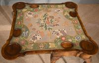 Walnut Card Table Fine Tapestry Interior (5 of 10)