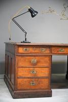 Large Victorian Mahogany Partners Desk (10 of 13)