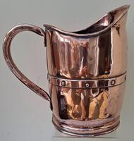 Antique English Victorian Copper Arts & Crafts Jug / Pitcher (3 of 6)