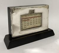 Antique Art Deco Sterling Silver Perpetual Desk Calendar
