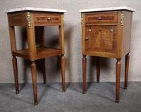 Pair of French Inlaid Mahogany Bedside Cupboards / Night Stands (4 of 14)