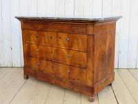 Antique Burr Walnut & Marble Top Chest Of Drawers (2 of 9)