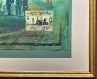 'Classical Golf' - Beautiful Signed Original 20thc Mixed Media Abstract Painting (10 of 11)