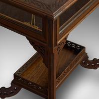 Antique Bijouterie Table, English, Walnut, Glass, Display, Edwardian c.1910 (11 of 12)
