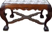 George II Style Mahogany Dressing Stool (3 of 5)