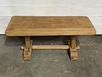 French Farmhouse Bleached Oak Coffee Table (7 of 9)