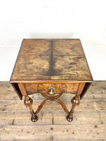 19th Century Walnut Drop Leaf Side Table (5 of 11)