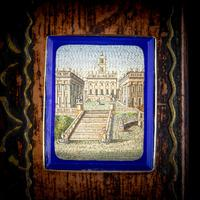 Antique Victorian Micro Mosaic Brooch 18ct Gold c.1860 Boxed (7 of 8)