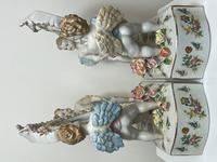 Pair of Small Dresden Victorian Style Porcelain Cherub Table Mirrors (23 of 60)