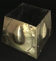 Arts and Crafts Pyramid  Shape Brass Planter (4 of 4)