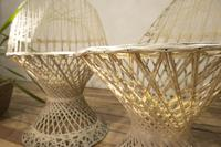 Pair of Mid 20th Century Russell Woodard Wicker Effect Side Chairs - Patio (9 of 11)