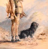 Early Victorian Watercolour of a Scottish Gillie (8 of 8)