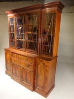 Early 20th Century Mahogany Breakfront Bookcase of the Finest Quality (3 of 7)