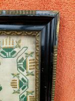 """Large Antique Needlework Sampler 1835 Mary Ann Fulcher 13yrs in Frame 14"""" x 19"""" (12 of 12)"""