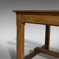 Large Antique Refectory Table, English, Teak, Mahogany, Dining, Industrial, 1900 (8 of 12)