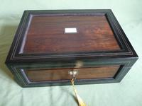 Large Inlaid Rosewood Jewellery – Work Box + Tray c.1840 (11 of 12)