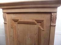 Antique Pine 1 Door Front to Back Pole Child's Wardrobe to Wax / Paint (6 of 9)