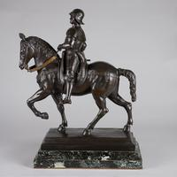 Very Large Stunning 19th Century Equestrian Bronze Sculpture of Bartolomeo Colleoni (17 of 20)