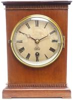 Superb Timepiece Mantle Clock -  Antique 8 Day Mahogany Dent Of London Carriage Mantel Clock (2 of 9)