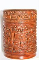 Finely Carved Chinese Bamboo Circular Lidded Pot (6 of 6)