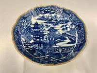 Antique Caughley Porcelain Deep Saucer c.1795