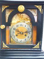Interesting Quarter Striking German Bracket Clock by Junghans in Ebony Glazed Case (4 of 9)