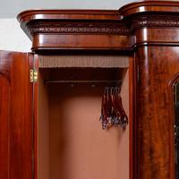 Triple Breakfront Wardrobe Mirrored Mahogany 19th Century (11 of 13)