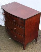 1900's Mahogany Bow Front Chest of Drawers + Crossbanding.Just Polished (4 of 4)