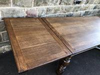 "Large Antique Oak 10ft 6"" Extending Dining (9 of 12)"