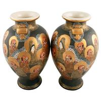Pair of Japanese Satsuma Vases (2 of 8)
