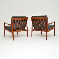 Pair of Danish Teak Vintage Armchairs by Grete Jalk (3 of 11)