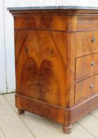 Antique Burr Walnut & Marble Top Chest Of Drawers (7 of 9)