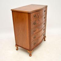 Burr Walnut Serpentine Chest of Drawers c.1930 (6 of 8)