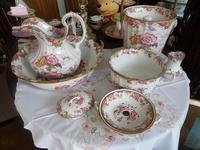 Beautiful 'in the eyes of the Beholder'! 7 Piece Cauldon of Staffordshire Toilet Set c.1907 (3 of 6)