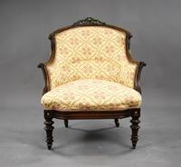 Victorian Rosewood Ladies & Gents Armchairs (4 of 22)