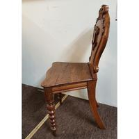 Victorian Oak Armorial Hall Chair (2 of 7)