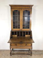 Early 20th Century Antique Oak Bureau Bookcase (12 of 17)