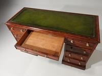 Very Good Quality Mid 19th Century Mahogany Centre Standing Pedestal Desk (3 of 6)