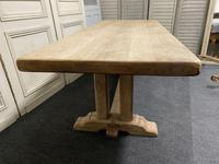 French Bleached Oak Farmhouse Dining Table (9 of 15)