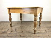 Antique Pine Kitchen Table (4 of 7)