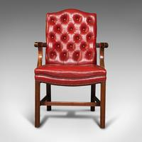 Set Of 10 Antique Gainsborough Chairs, English, Leather, Carver, Edwardian, 1910 (3 of 12)