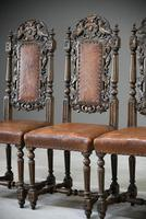 4 Carved Oak Dining Chairs (13 of 13)