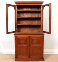 Teak Glazed Library Bookcase (4 of 11)