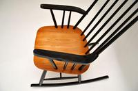 1960's Vintage Ebonised Elm Rocking Chair (7 of 11)