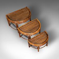 Antique Set of Nesting Tables, Oriental, Bamboo, Occasional, Side, Edwardian (8 of 10)