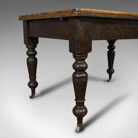 Antique Kitchen Table, English, Extending, Scrub Top, Dining, Victorian c.1870 (7 of 12)