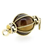 1960s 14ct Gold Tiger's Eye Chinese Lantern Charm (3 of 5)