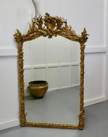 Large Elaborate French Rococo Gilt Console Mirror Decorated with Leaves & Birds (5 of 8)